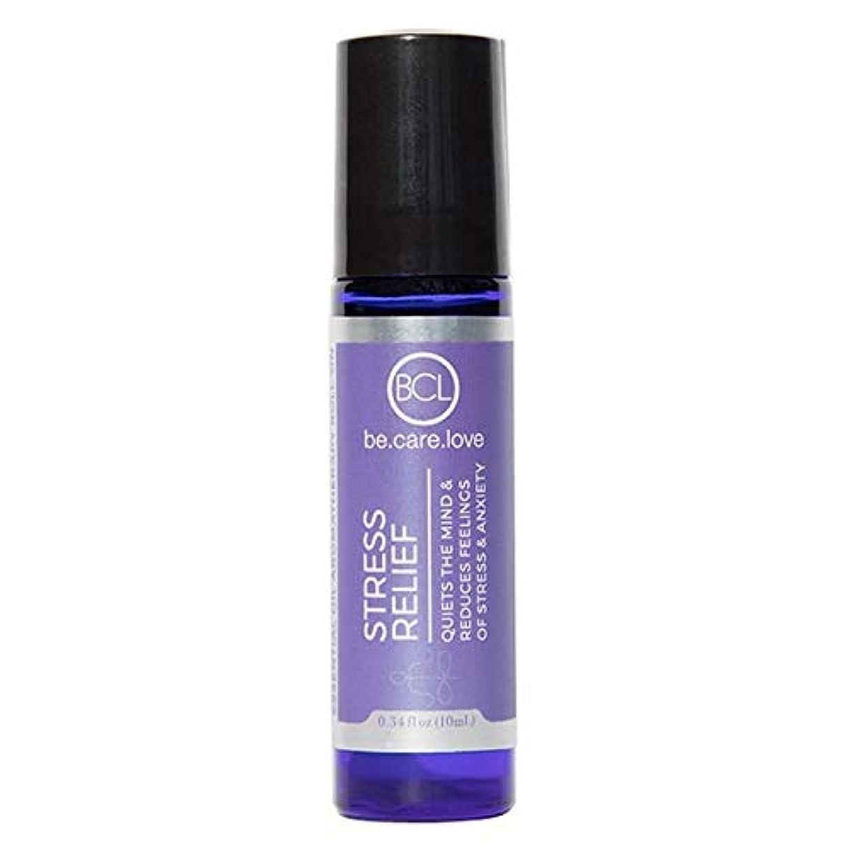 辛い帳面増幅器[Be Care Love Naturals ] ケア愛のナチュラルなる救済エッセンシャルオイルロールオンを強調 - Be Care Love Naturals Stress Relief Essential Oil Roll-on...
