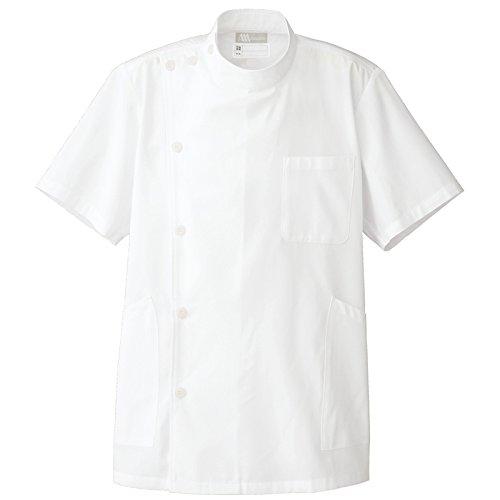 【Lumiere】ルミエール男性用 診察衣 白衣 ケーシー半袖コート(ボタンタイプ) (861301)ホワイト M