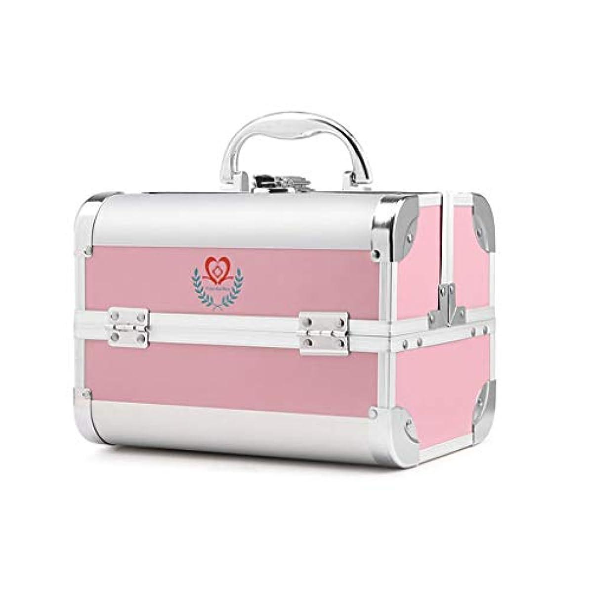 十分ペレグリネーションメロドラマティックDjyyh 大型応急処置応急処置ボックス家庭用収納ボックス、3棚金属キット緊急キットオーガナイザー (Color : Pink)