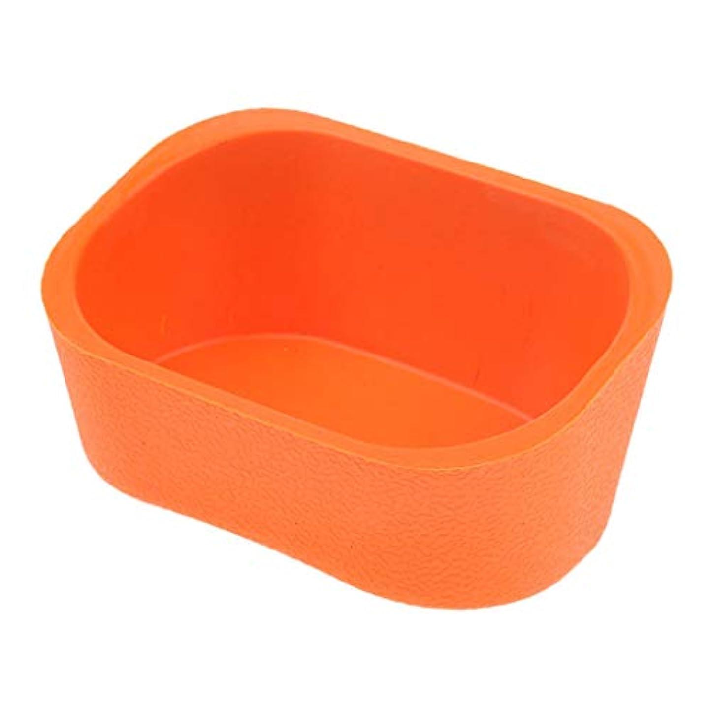 地球床を掃除する乗り出すシャンプーボウル ネックレス クッション ピロー ヘアサロン ソフト シリコンゲル 5色選べ - オレンジ