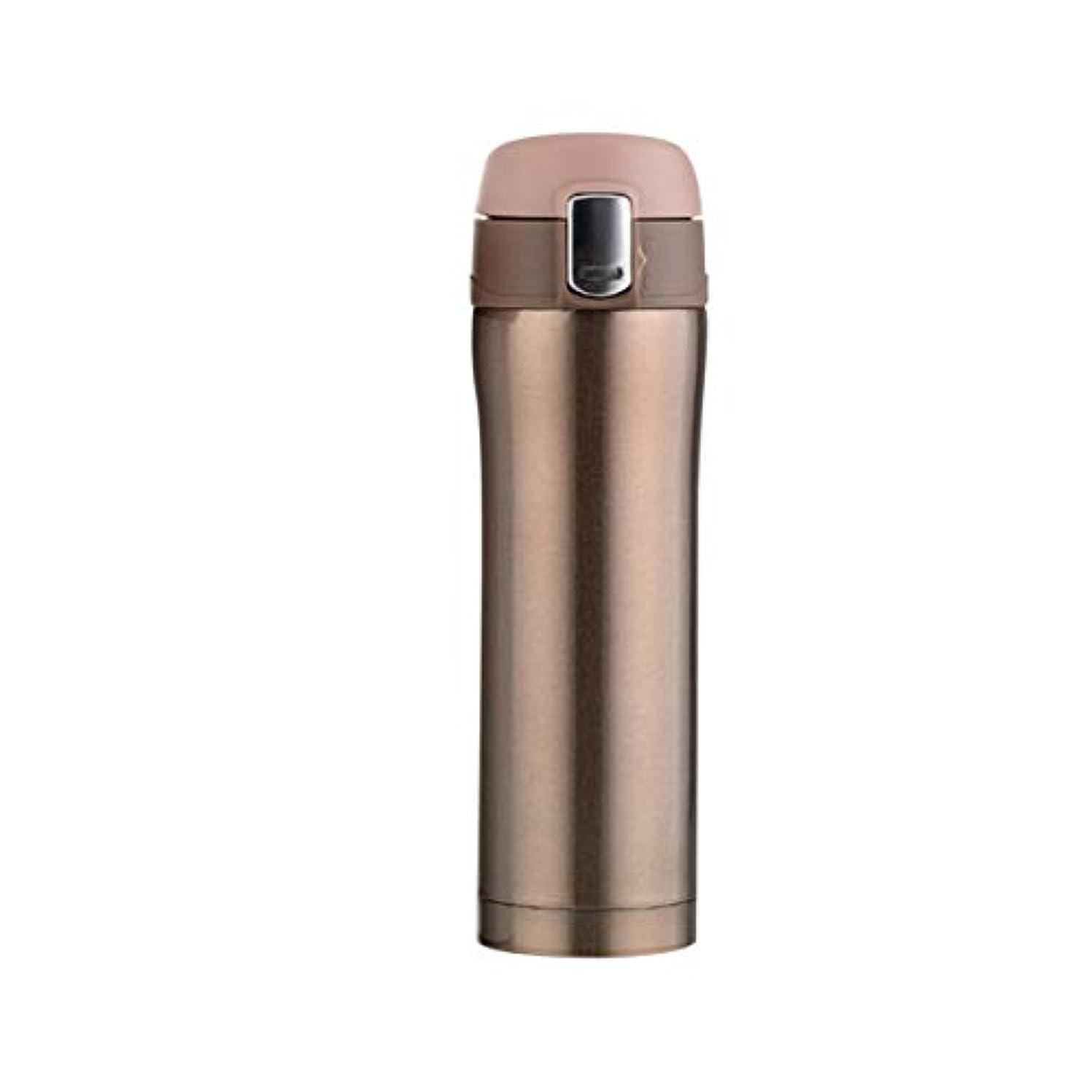 前奏曲衰える連続的Saikogoods 500MLコンパクトサイズのステンレス鋼真空断熱ウォーターボトルメンズ?レディース?オフィス旅行カー水マグボトルドリンク ゴールド