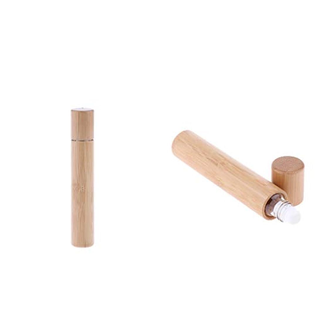 エーカースポーツマンテーマロールオンボトル 遮光 天然竹 小分け 詰め替え用 エッセンシャルオイルボトル 15ml