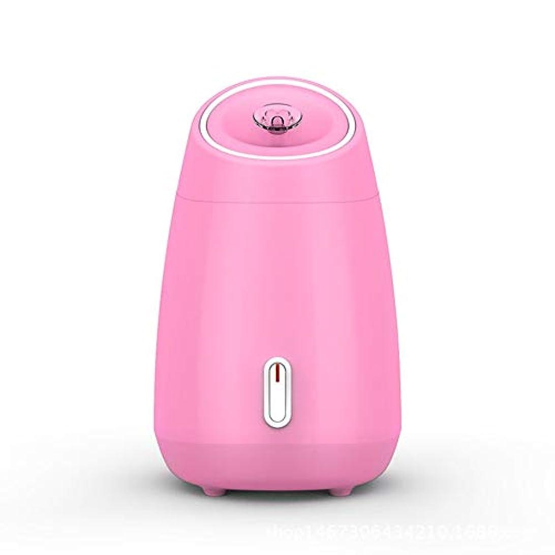 町シロクマ町ZXF 加湿美容機器フルーツと野菜の蒸し顔ホットスプレーホーム美容機器2ピンクモデルホワイトを白くするナノスプレー水道メーター顔 滑らかである (色 : Pink)