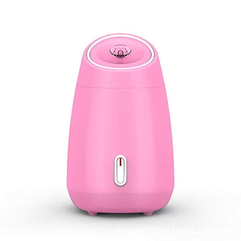 うねるパントリーモスZXF 加湿美容機器フルーツと野菜の蒸し顔ホットスプレーホーム美容機器2ピンクモデルホワイトを白くするナノスプレー水道メーター顔 滑らかである (色 : Pink)
