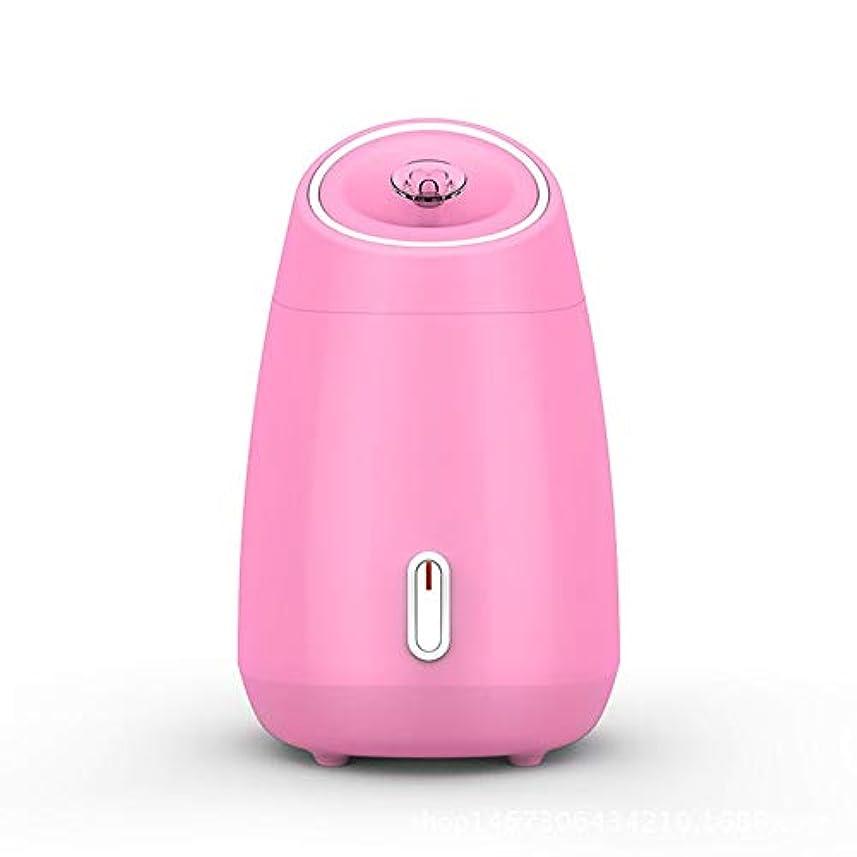機密十年チロZXF 加湿美容機器フルーツと野菜の蒸し顔ホットスプレーホーム美容機器2ピンクモデルホワイトを白くするナノスプレー水道メーター顔 滑らかである (色 : Pink)