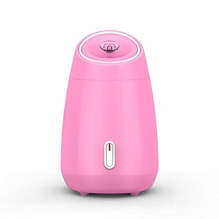 娯楽セーター全能ZXF 加湿美容機器フルーツと野菜の蒸し顔ホットスプレーホーム美容機器2ピンクモデルホワイトを白くするナノスプレー水道メーター顔 滑らかである (色 : Pink)