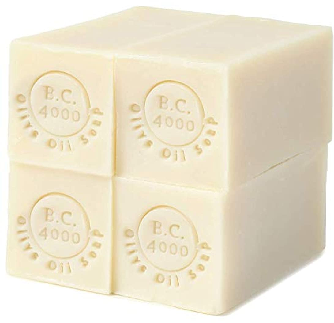 安全豚肉ジェム100% バージンオリーブオイル石鹸 B.C.4000 オーガニック せっけん 50g 4個入