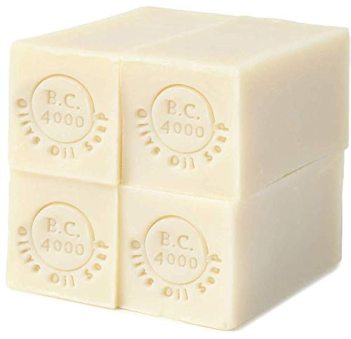 からかう熟達した離れて100% バージンオリーブオイル石鹸 B.C.4000 オーガニック せっけん 50g 4個入