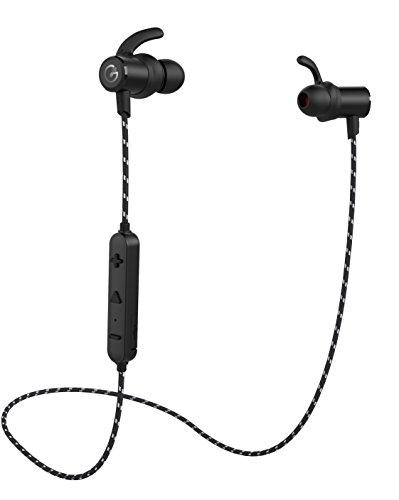 AIFED Bluetooth イヤホン GEVO Bluetooth 4.1高音質、8時間の連続再生、通話可能、しマグネット内蔵、防水防汗で運動用イヤホン、重低音/HIFI/スポーツランニング仕様/カナル型/メタル/ナイロンケーブル