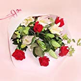 【フラワーファーム】 ユリとバラの花束 【花 ギフト・宅配・誕生日・プレゼント・翌日】