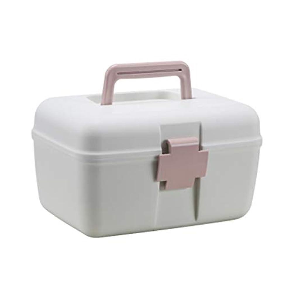受粉する序文乱用YYFRB ポータブル医学ボックスファミリーポータブル分類救急キットプラスチックpp多層救急医療ボックス(3色はオプション) 医学パッケージ (Color : A)