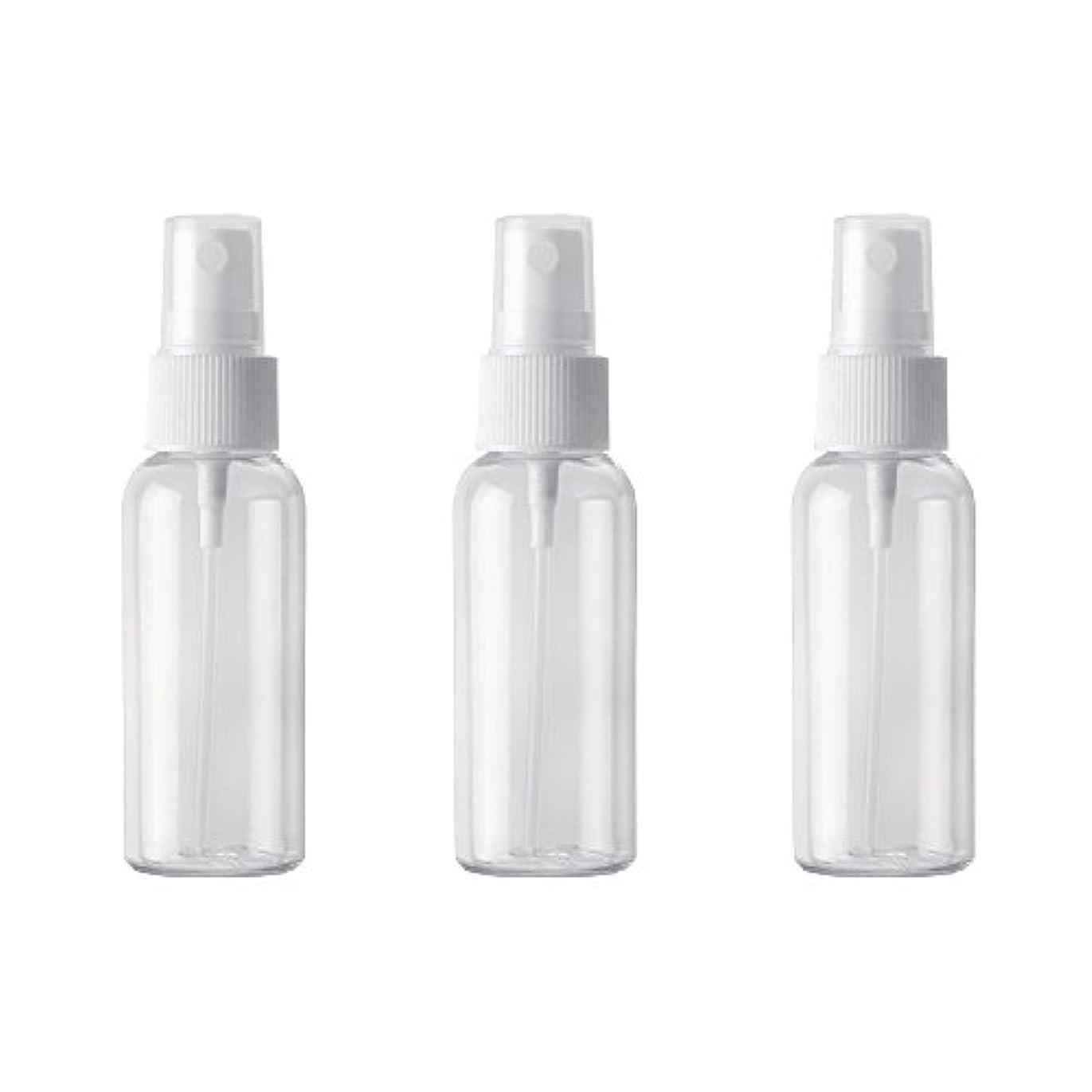 減少聖人統合PET小分けボトル トラベルボトル スプレーボトル 3本セット 霧吹き 小分け容器 化粧水 精製水 詰替ボトル 旅行用(50ml )