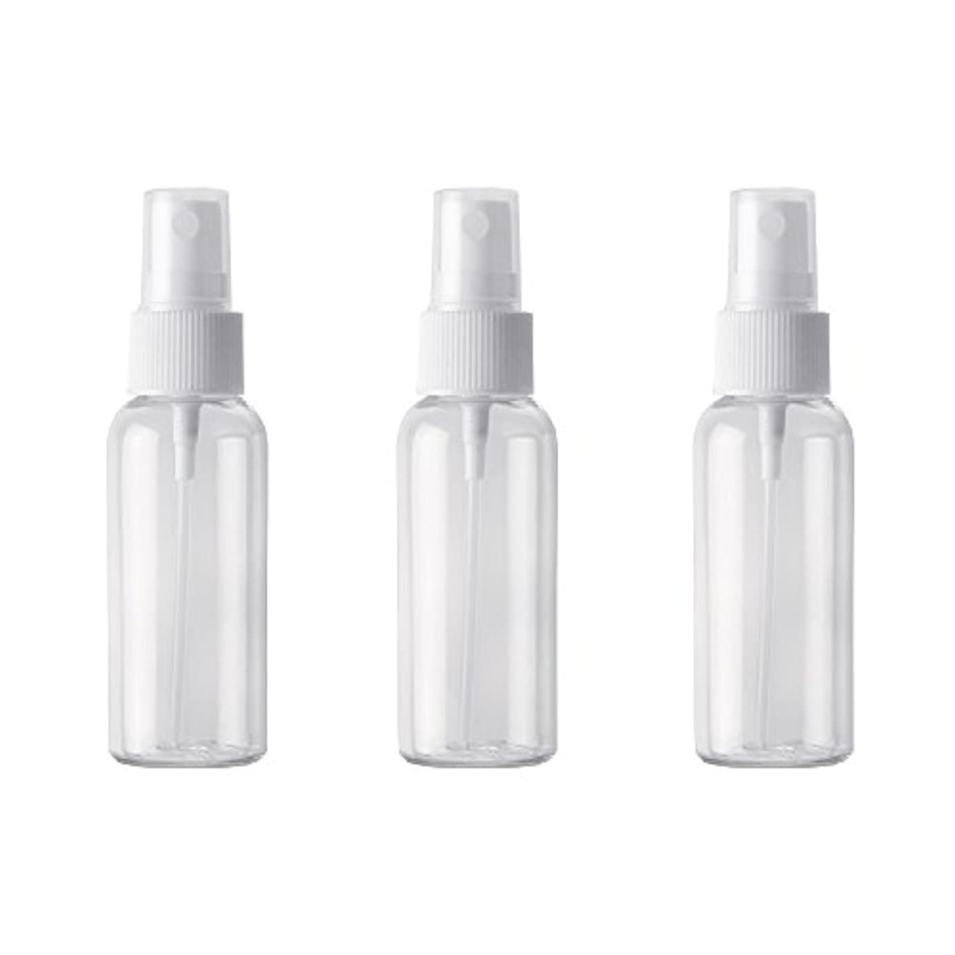 他の場所気難しいダニPET小分けボトル トラベルボトル スプレーボトル 3本セット 霧吹き 小分け容器 化粧水 精製水 詰替ボトル 旅行用(50ml )