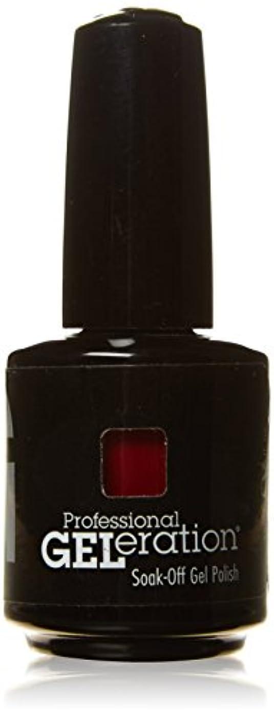 ウォーターフロント一回赤道ジェレレーションカラー GELERATION COLOURS 290 C マーロット 15ml UV/LED対応 ソークオフジェル