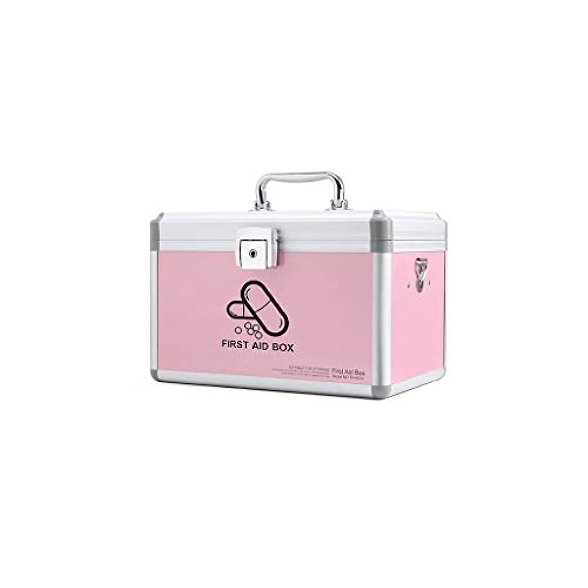 プレートビヨン悲しいことに家庭用多層医療キットポータブル医療ボックス救急箱薬収納ボックス利用可能な AMINIY (Color : Pink, Size : 290×185×190mm)