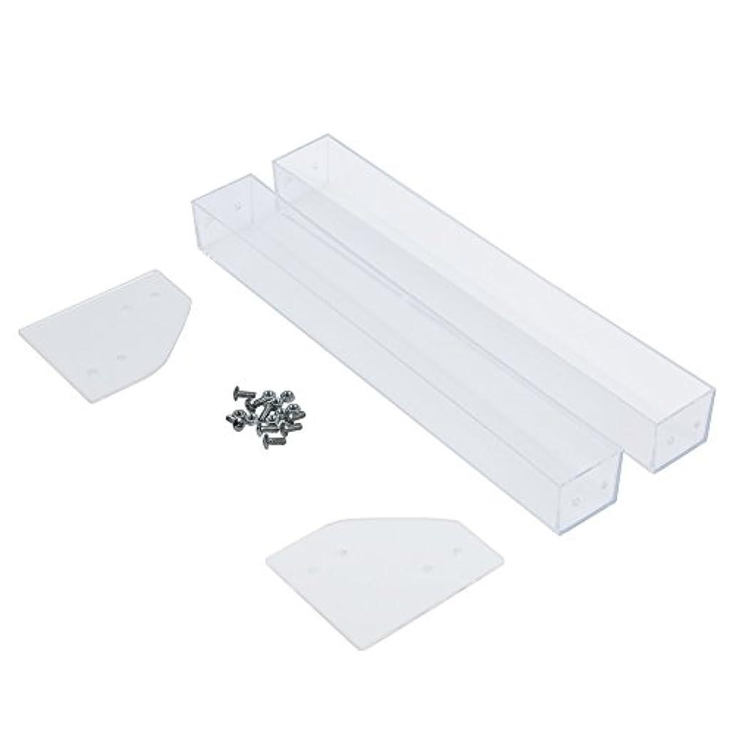 阻害する効率的に価値のない耐久性のあるマニキュアアクリルディスプレイスタンド(Two Layers)