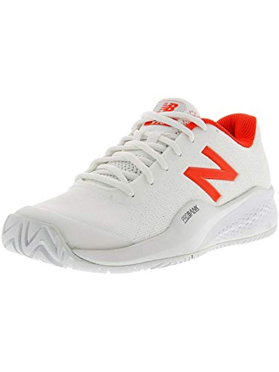 フラッシュのように素早くハンディキャップそれ[ニューバランス] レディース 女性用 シューズ 靴 スニーカー 運動靴 WCH996v3 Tennis - White/Flame [並行輸入品]