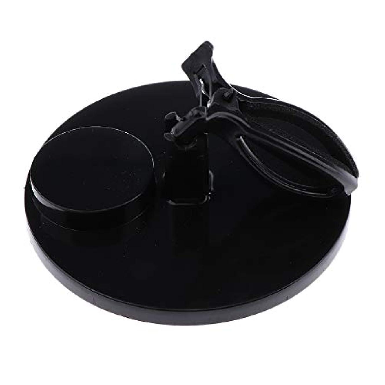ガラガラブレイズ松の木B Baosity マニキュアボトルホルダー グリップ 調整可能 ネイルアート 5色選べ - ブラック