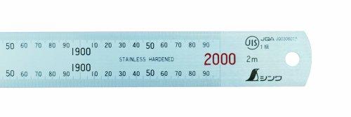 シンワ測定 直尺 ステン 2m JIS1級 赤数字入 14060