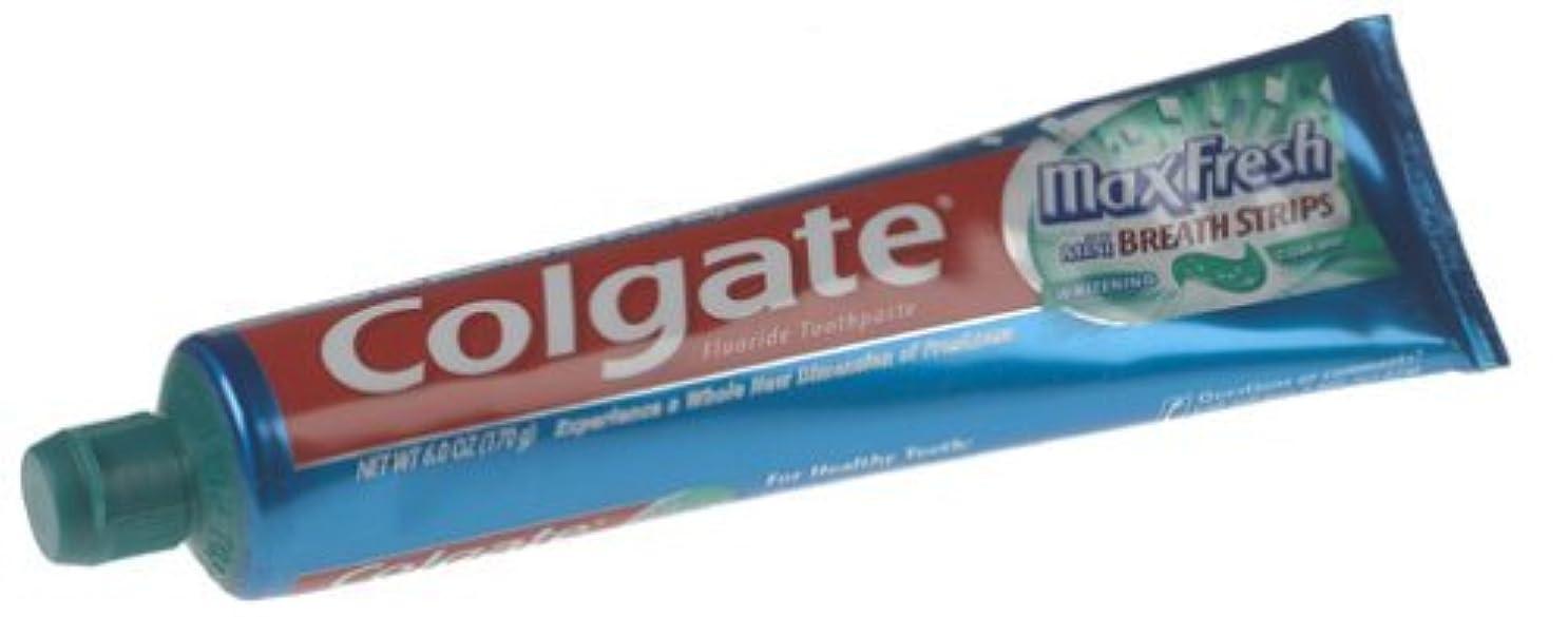 減衰クレア分子海外直送品 Colgate Colgate Max Fresh Whitening Toothpaste Clean Mint, Clean Mint 6 oz