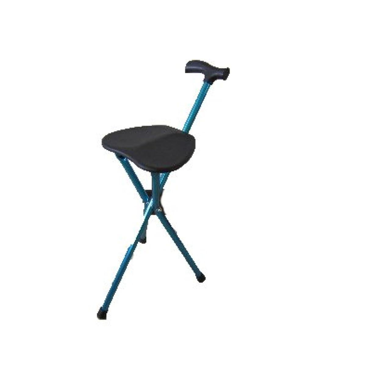 勝利した援助するじゃがいも高齢者のための伸縮自在の杖の椅子3つの脚の折りたたみ可能な杖折りたたみ式のハンドル付きの杖の杖屋外の歩行スティック高さ調節可能な松葉杖滑り止めアルミニウム合金