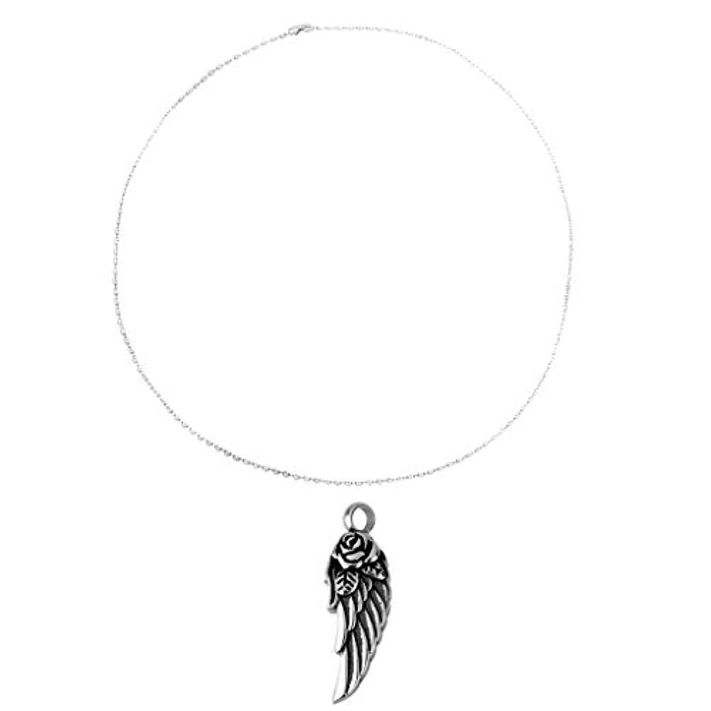 気絶させるなめらかなコロニーステンレス鋼ビーズ?チェーン?ネックレス 銀色+天使の翼の火葬記念品記念灰骨壷のネックレスのペンダントの宝石