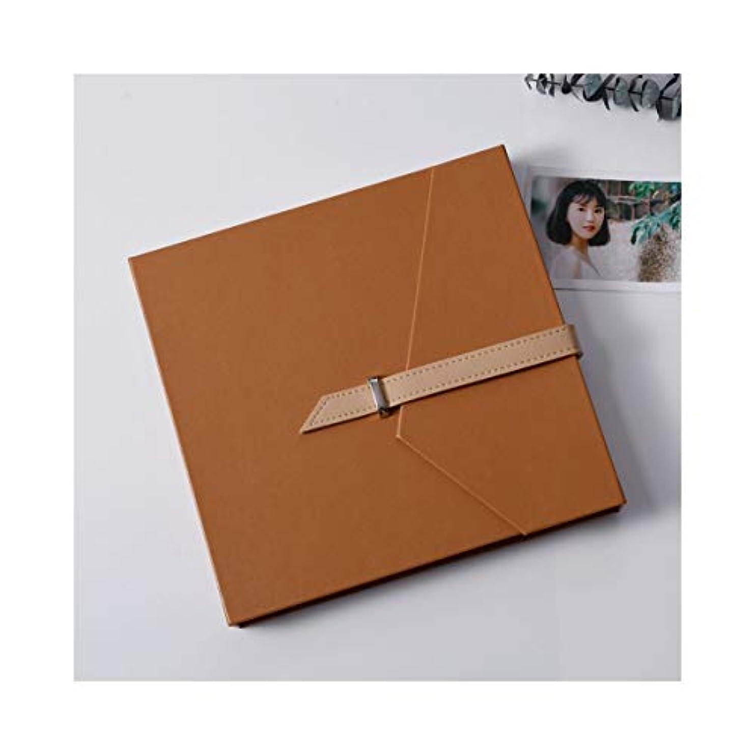 クマノミメッシュ旋律的LHSY ラミネートDiyアルバム、ペーストハンドメイドクリエイティブギフト、コレクションアルバム (Color : Brown)