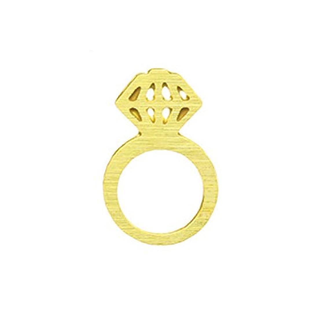 少年鋸歯状モールス信号メタルプレート(ネイルストーン デコ) リング ゴールド (30個入り)(ネイル用品)