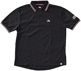 アブガルシア(Abu Garcia) クイックドライグローポロシャツ BLACK Mサイズ ブラック M