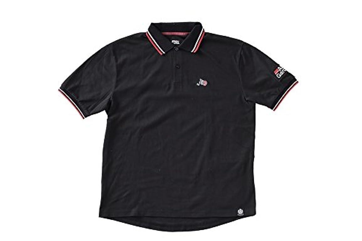 縫い目開始影響するアブガルシア(Abu Garcia) クイックドライグローポロシャツ BLACK XLサイズ ブラック XL