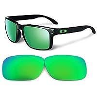 Galaxylense Men's Replacement Lenses For Oakley Holbrook Emerald Polarized Green