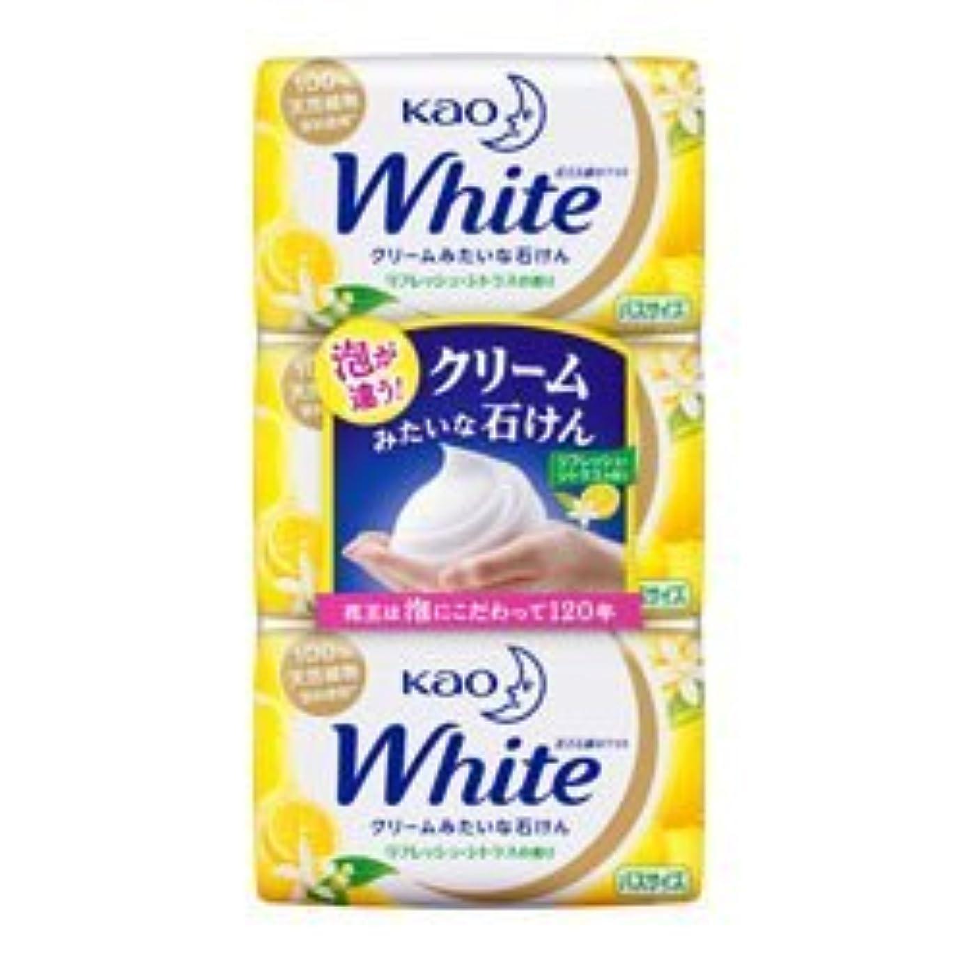 満足させる明快発音する【花王】ホワイト リフレッシュ?シトラスの香り バスサイズ 130g×3個入 ×3個セット