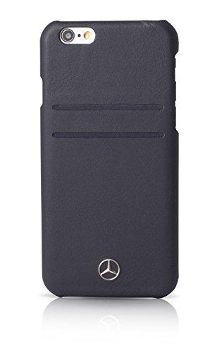 エアージェイ メルセデス・ベンツ(Mercedes-Benz)公式ライセンス品 iPhone6S/6専用 本革バックカバー ネイビーMEHCP6PLNA