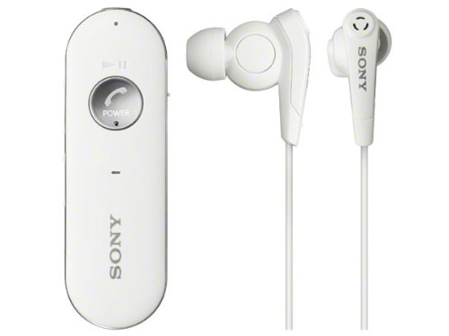 SONY カナル型ワイヤレスイヤホン ノイズキャンセリング Bluetooth対応 リモコン・マイク付 ホワイト MDR-EX31BN/W