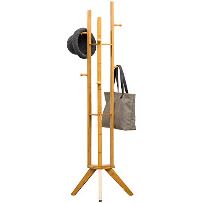 木製のベッドルームコートラック2つの色(8つのフック)で利用可能なフロアスタンディングシェルフ