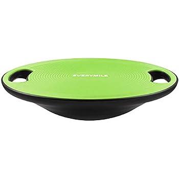 バランスボード ダイエット 体幹トレーニング用 EVERYMILE 滑り止め 直径40cm 運動不足 エクササイズ 持ち運びやすい(グリーン)