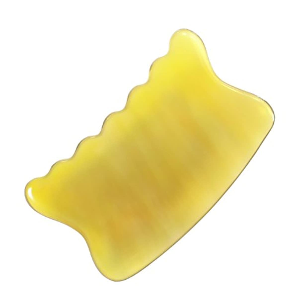 バット傷跡十二かっさ プレート 希少68 黄水牛角 極美品 曲波型