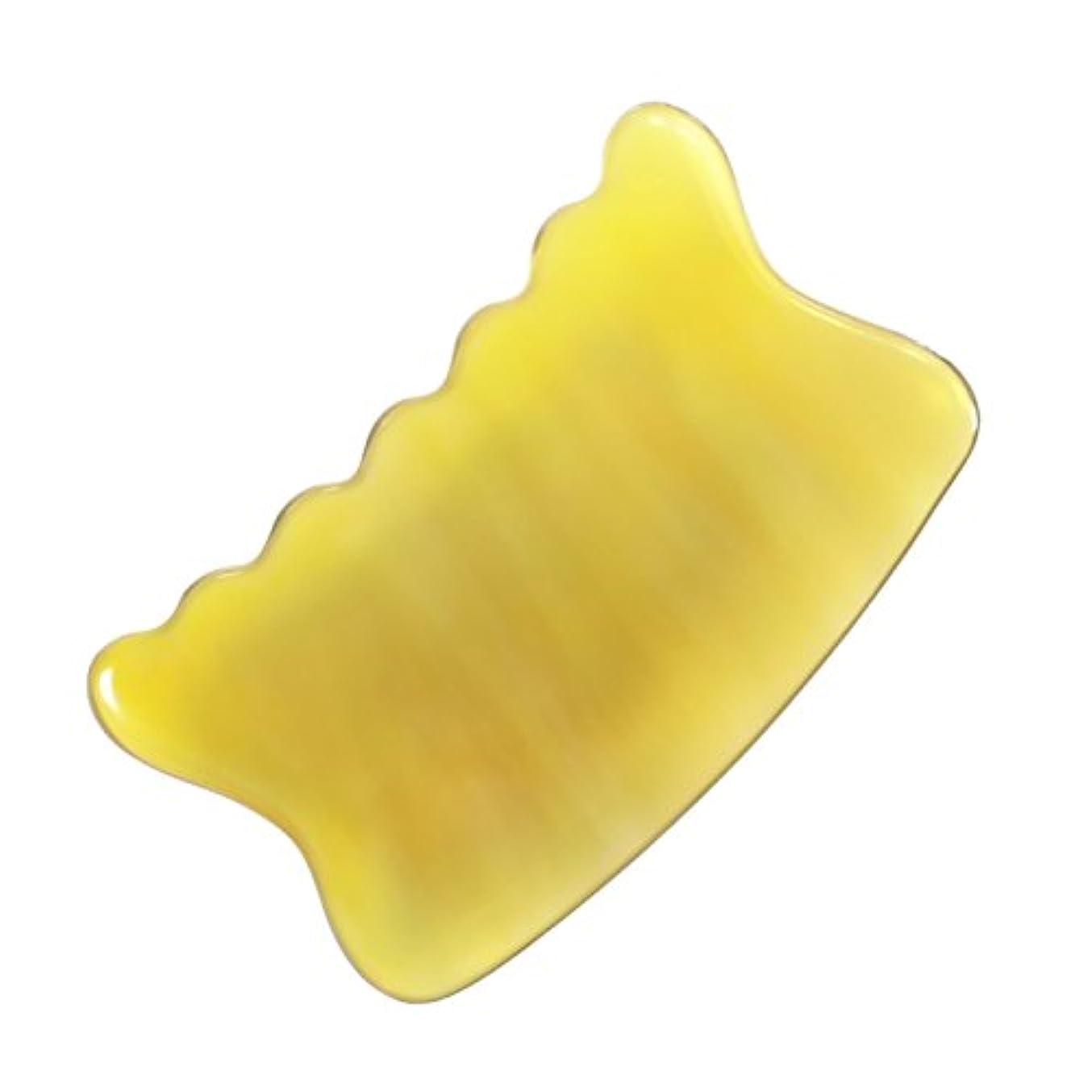 マーチャンダイザー精神医学パイプラインかっさ プレート 希少68 黄水牛角 極美品 曲波型