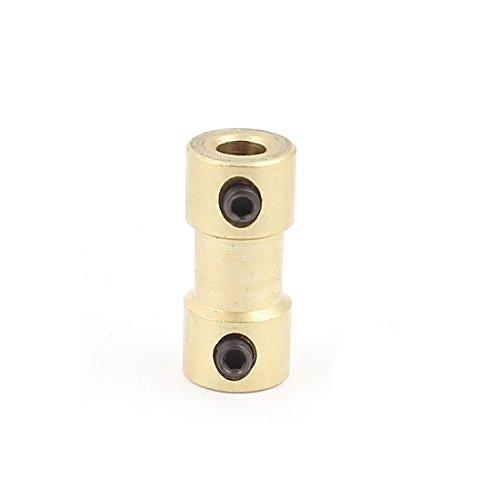uxcell 4mm ー 4mm 電気自動車玩具用 銅DIY モーター シャフトカップリング ジョイントコネクタ