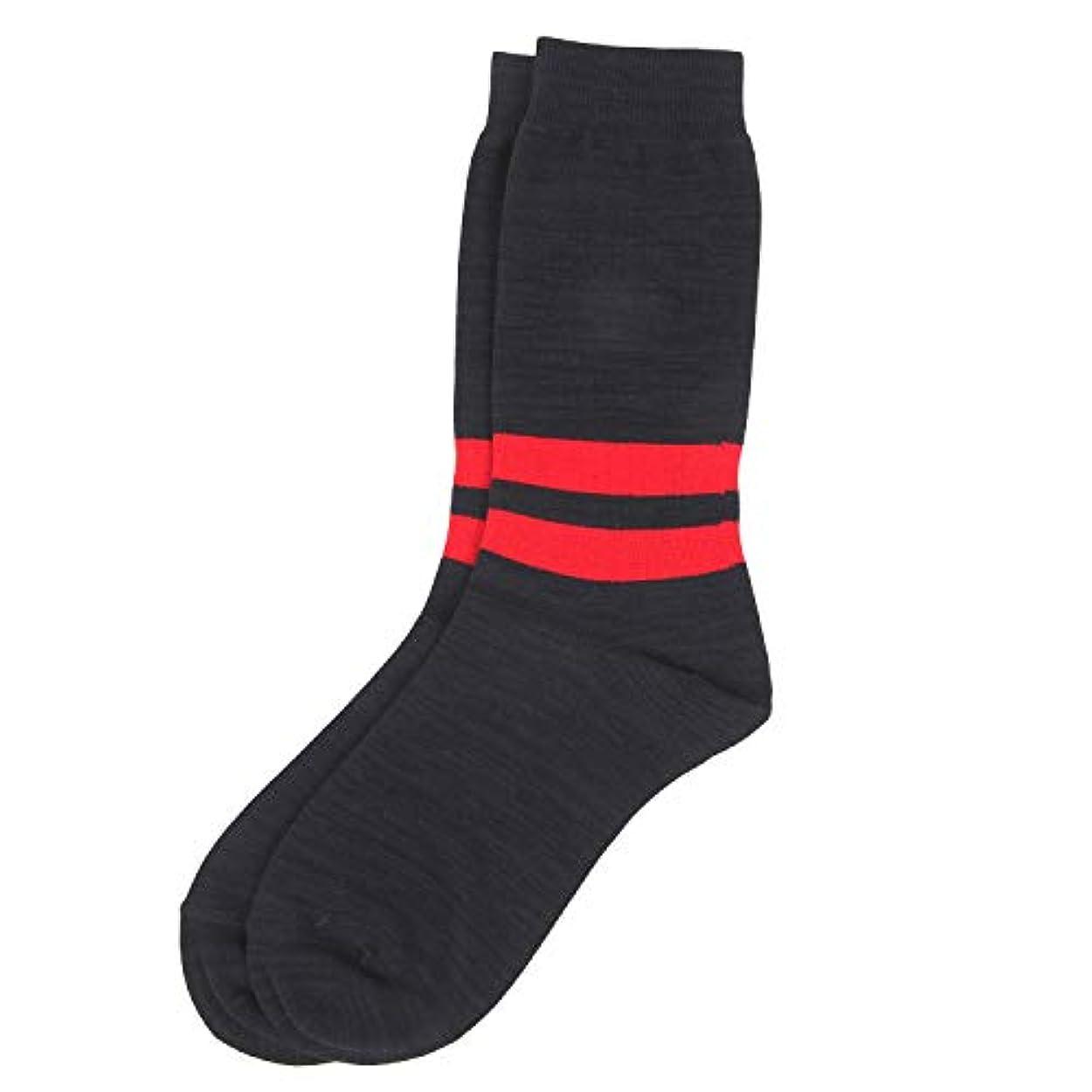 あさり宇宙のポーンDeol(デオル) ラインソックス 男性用 メンズ [足のニオイ対策] 長期間持続 日本製 無地 靴下 紺 25cm-27cm