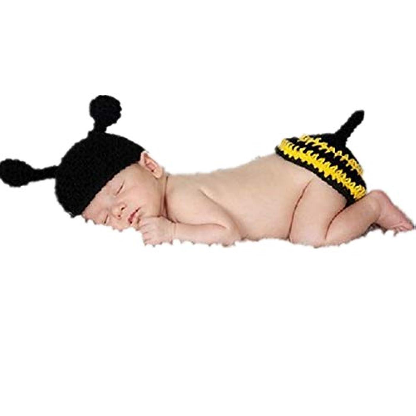 からに変化する一掃する炭水化物ベビー用着ぐるみ コスチューム ハンドメイドキャップ 寝相アート ビーの扮装 ハット 出産祝い バースデー 記念撮影