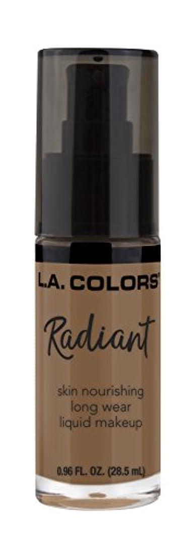 洞窟誓約発表するL.A. COLORS Radiant Liquid Makeup - Mocha (並行輸入品)