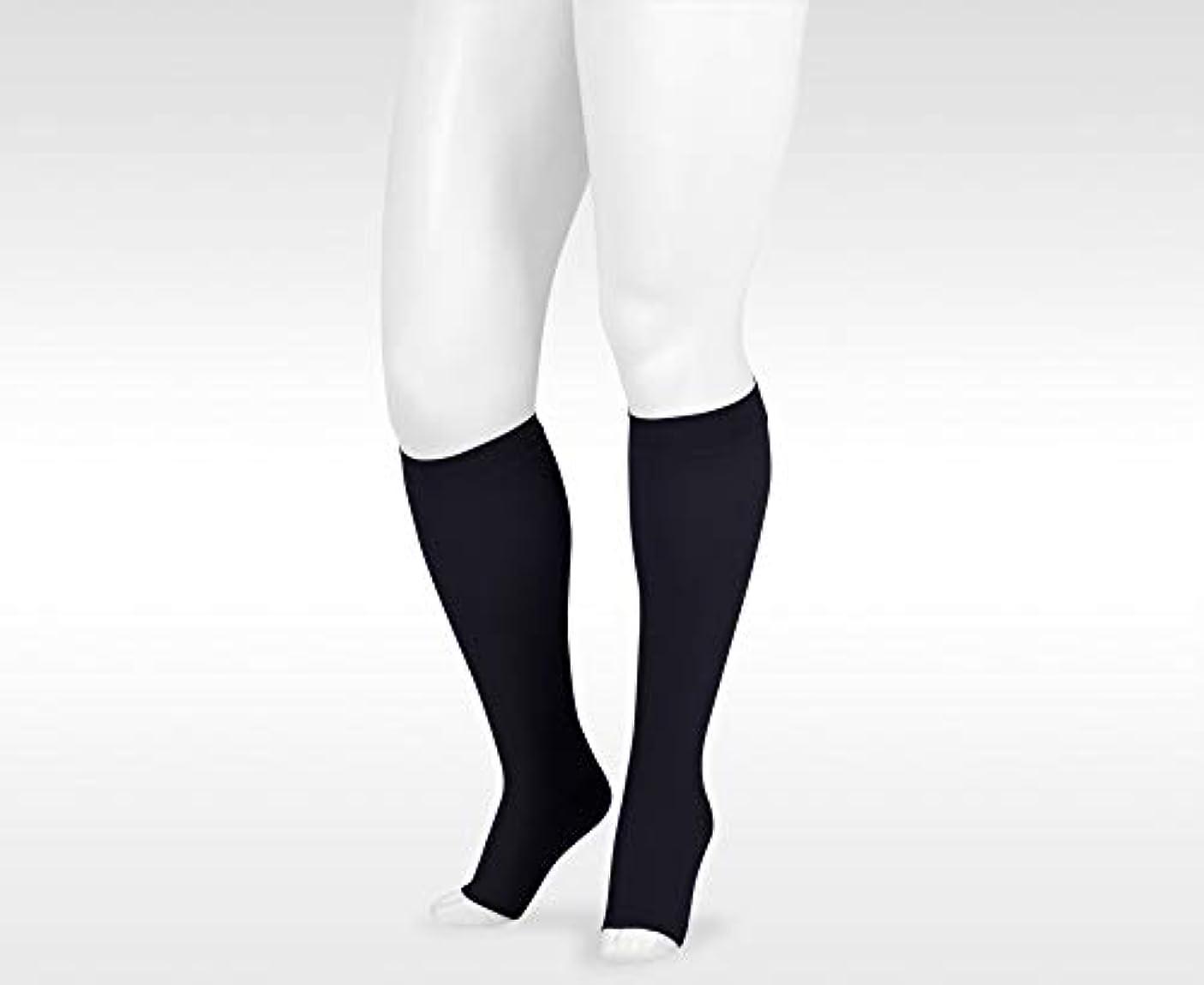 ストリーム音楽環境保護主義者30-40 mmHg Juzo Dynamic (Varin) AD-N Compression Stockings. Knee High. Open Toe. Petite Silicone Grip. 5cm. ,Size:V,Color:Black by Juzo