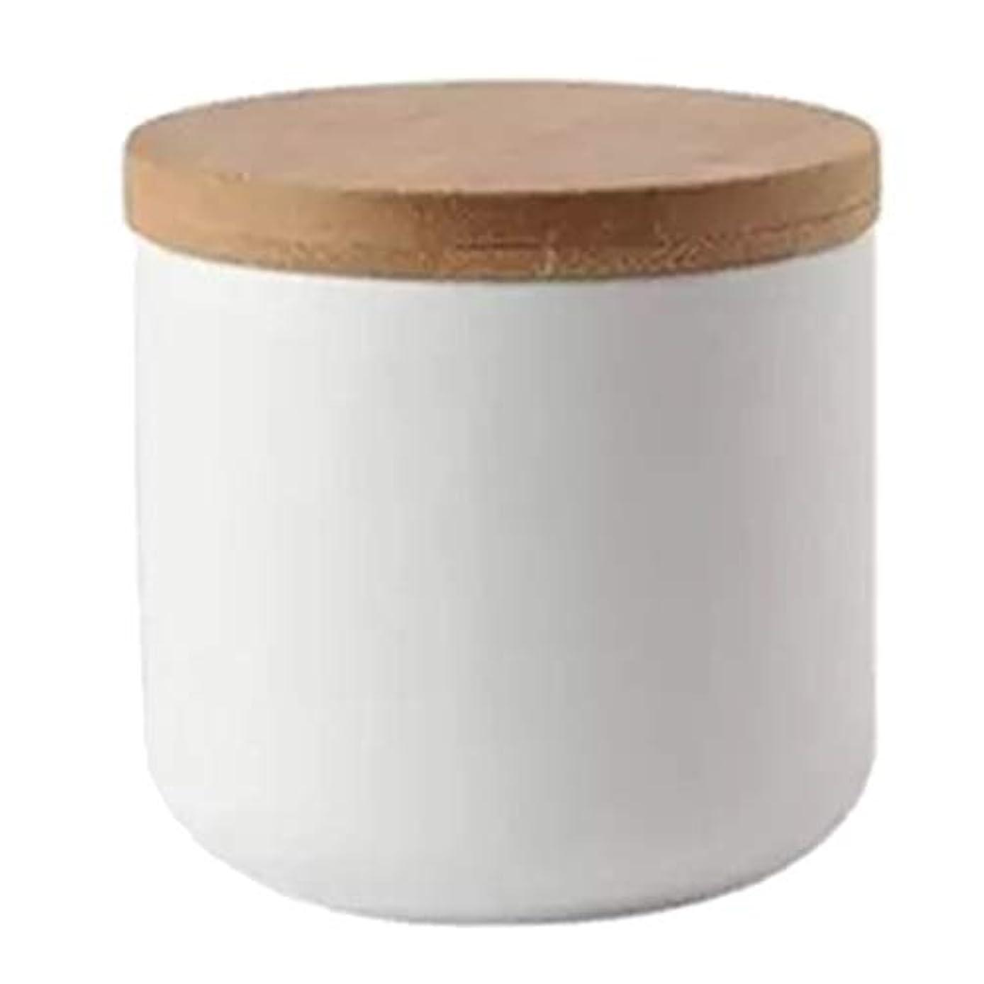 拡張はい略奪ネイルリキッドコンテナ ボウル パウダー ドライグッズ ルーズティーリーフ 化粧品 収納ポット 全2色 - 白い
