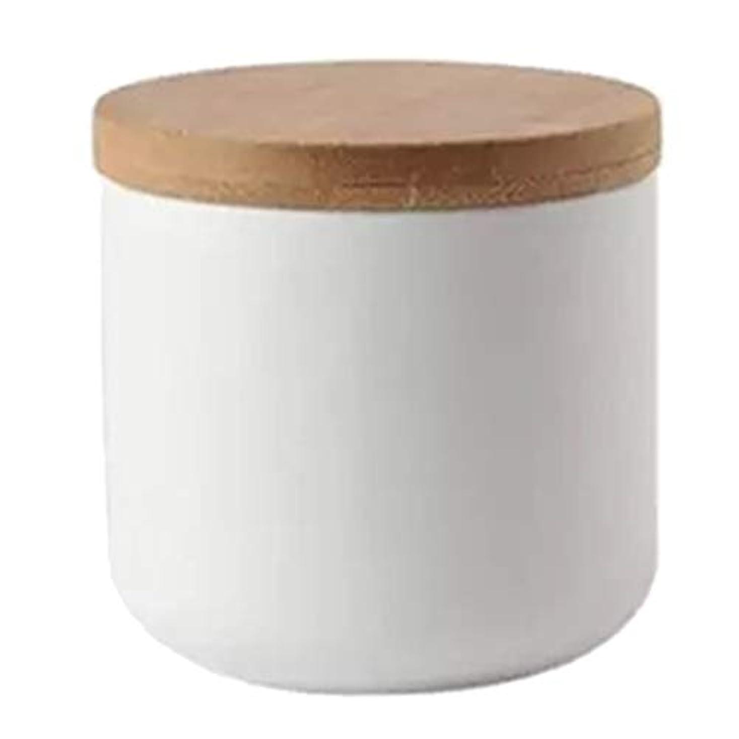 パースブラックボロウ経済予約ネイルリキッドコンテナ ボウル パウダー ドライグッズ ルーズティーリーフ 化粧品 収納ポット 全2色 - 白い