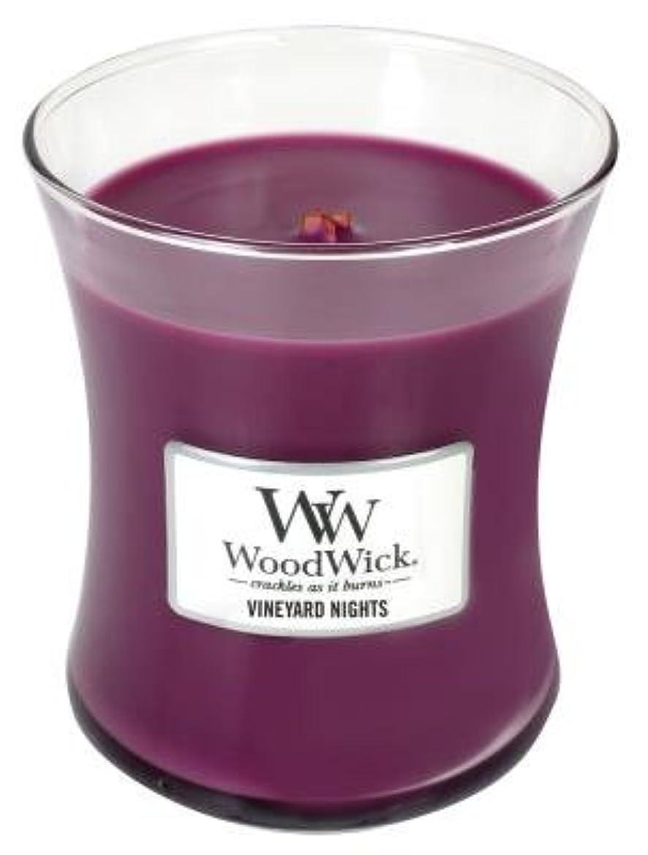グリースバラ色無視Vineyard Nights WoodWick 10oz Large Jar Candle WoodwickによってBurns 100時間