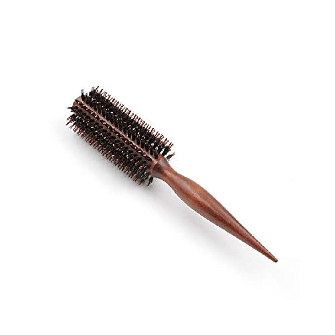 贈り物帳面動機付けるヘアコーム理髪くし 髪の毛ラウンドブラシはサロンのヘアデザインのためのドライ木製ローリングくしフェラ ヘアスタイリングコーム (Color : Straight, Size : 10 rows)