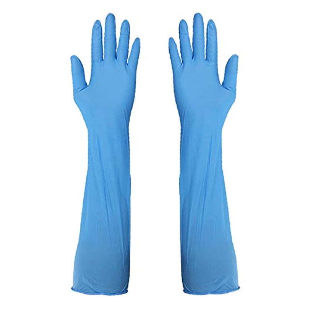 未来ポータルエジプトニトリルグローブ 使い捨て手袋 手袋を長くする グローブ パウダーフリー 作業 介護 調理 炊事 園芸 掃除用 10組,L