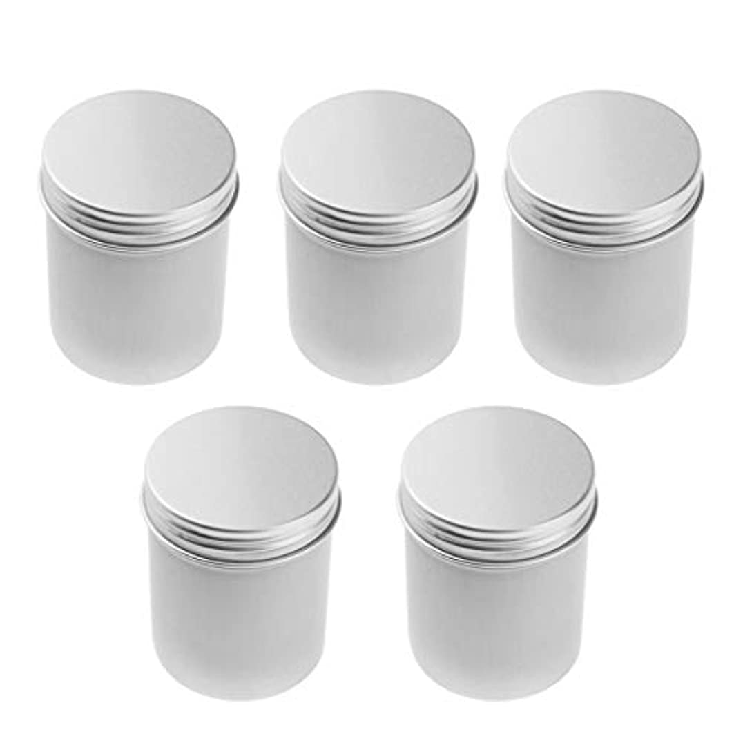 分類する涙エイリアスIPOTCH アルミ缶 ポット コスメ 化粧品 詰替え容器 缶 ネジ蓋 高級アルミ製 5本 80ミリリットル 汎用