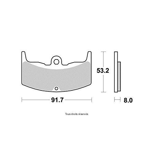Vesrah:ベスラ JLメタルパッド 仕様:シンタードメタルパッド、オンロードフロント用 HONDA CBX550 F2 83-86